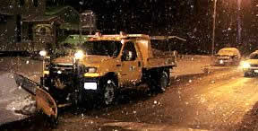Snowplow clearing the streets